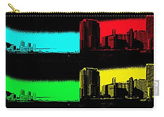 Miami Pop Art Panorama Carry-all Pouch by Christiane Schulze Art And Photography