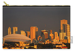Miami Skyline At Sunset Carry-all Pouch by Christiane Schulze Art And Photography