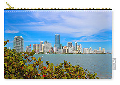 Miami Waterfront 6807 Carry-all Pouch by Olivia Novak