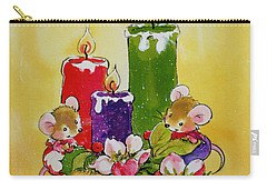 Mice With Candles Carry-all Pouch by Diane Matthes