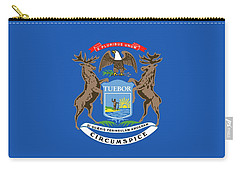 Michigan State Flag Carry-all Pouch by American School