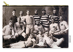 Michigan Wolverines Football Heritage 1888 Carry-all Pouch by Daniel Hagerman