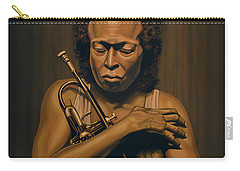 Miles Davis Painting Carry-all Pouch by Paul Meijering