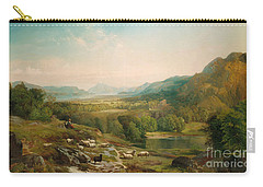 Minding The Flock Carry-all Pouch by Thomas Moran