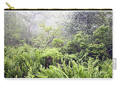 Carry-all Pouch featuring the photograph Misty Afternoon In An Eastern Forest Thicket, Pennsylvanis by A Gurmankin