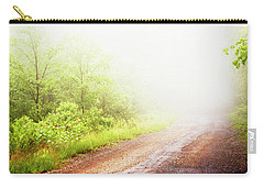 Carry-all Pouch featuring the photograph Misty Back Road, Pocono Mountains, Pennsylvania by A Gurmankin