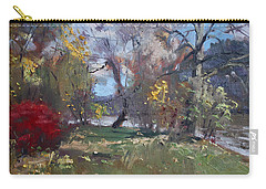 Mixed Weather In A Fall Afternoon Carry-all Pouch by Ylli Haruni