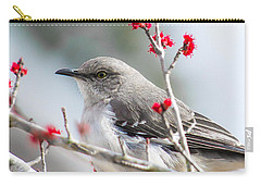 Mockingbird In The Blossoms Carry-all Pouch by Shelby  Young
