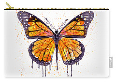 Monarch Butterfly Watercolor Carry-all Pouch by Marian Voicu
