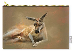Monday Morning Drowsies Kangaroo Art Carry-all Pouch by Jai Johnson
