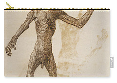 Monkey Standing, Anterior View Carry-all Pouch by George Stubbs