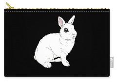 Monochrome Rabbit Carry-all Pouch by Katrina Davis