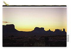 Carry-all Pouch featuring the photograph Monument Valley Sunrise, Utah by A Gurmankin
