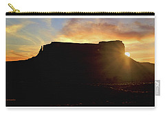 Carry-all Pouch featuring the photograph Monument Valley, Utah, Sunrise by A Gurmankin