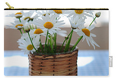 Morning Daisies Carry-all Pouch by Elena Elisseeva
