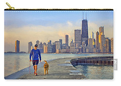 Morning Walk - 1 - Pier - North Avenue Beach  - Chicago Carry-all Pouch by Nikolyn McDonald