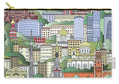 Moscow City Poster Carry-all Pouch by Pablo Romero