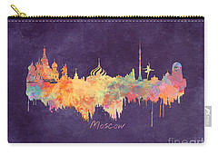 Moscow Russia Skyline City Carry-all Pouch by Justyna JBJart