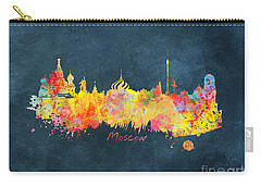 Moscow Skyline  Carry-all Pouch by Justyna JBJart