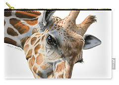 Mother And Baby Giraffe Carry-all Pouch by Sarah Batalka