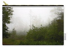 Carry-all Pouch featuring the photograph Mountain Forest Thicket In Fog by A Gurmankin