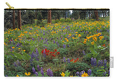Mountain Wildflowers Carry-all Pouch by Leland D Howard