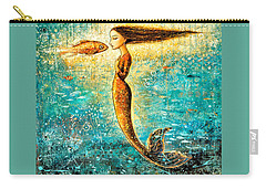 Mystic Mermaid Iv Carry-all Pouch by Shijun Munns