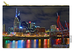Nashville After Dark Carry-all Pouch by Frozen in Time Fine Art Photography