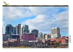 Nashville Panorama View Carry-all Pouch by Frozen in Time Fine Art Photography