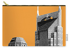 Nashville Skyline At And T Batman Building - Orange Carry-all Pouch by DB Artist