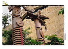 National Museum Of The American Indian 3 Carry-all Pouch by Randall Weidner