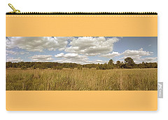 Natural Meadow Landscape Panorama. Carry-all Pouch by Arletta Cwalina