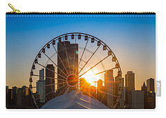 Navy Pier Sundown Chicago Carry-all Pouch by Steve Gadomski