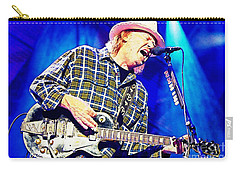 Neil Young In Concert Carry-all Pouch by John Malone