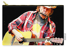 Neil Young Carry-all Pouch by John Malone