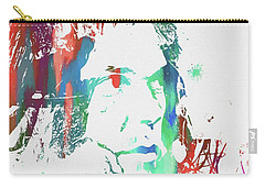 Neil Young Paint Splatter Carry-all Pouch by Dan Sproul
