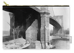 New York City Brooklyn Bridge Carry-all Pouch by Edward Fielding