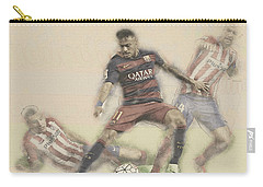 Neymar Fight For The Bal Carry-all Pouch by Don Kuing