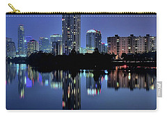 Night Lights Austin Texas 2016 Carry-all Pouch by Frozen in Time Fine Art Photography