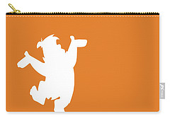 No04 My Minimal Color Code Poster Fred Flintstone Carry-all Pouch by Chungkong Art
