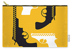 No087 My Taxi Driver Minimal Movie Poster Carry-all Pouch by Chungkong Art