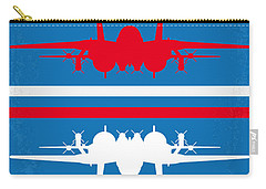 No128 My Top Gun Minimal Movie Poster Carry-all Pouch by Chungkong Art