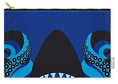 No485 My Sharktopus Minimal Movie Poster Carry-all Pouch by Chungkong Art