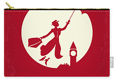No539 My Mary Poppins Minimal Movie Poster Carry-all Pouch by Chungkong Art