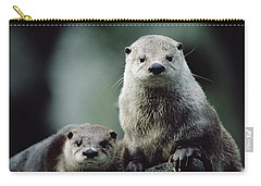 North American River Otter Lontra Carry-all Pouch by Gerry Ellis