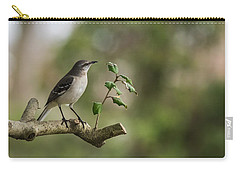 Northern Mockingbird Branch New Jersey Carry-all Pouch by Terry DeLuco