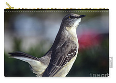Northern Mockingbird Up Close Carry-all Pouch by William Tasker