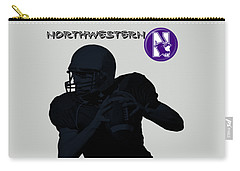 Northwestern Football Carry-all Pouch by David Dehner