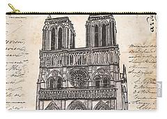 Notre Dame De Paris Carry-all Pouch by Debbie DeWitt