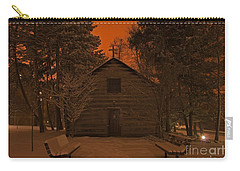 Notre Dame Log Chapel Winter Night Carry-all Pouch by John Stephens